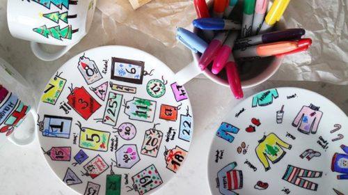 Новый Год: Расписная посуда