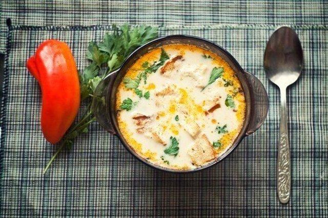 Сырный суп по-французски