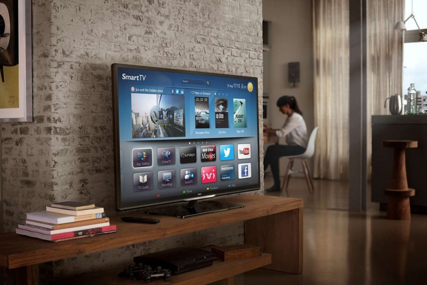прячем провода от телевизора за мебелью