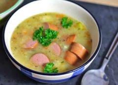 Суп с капустой и сосисками