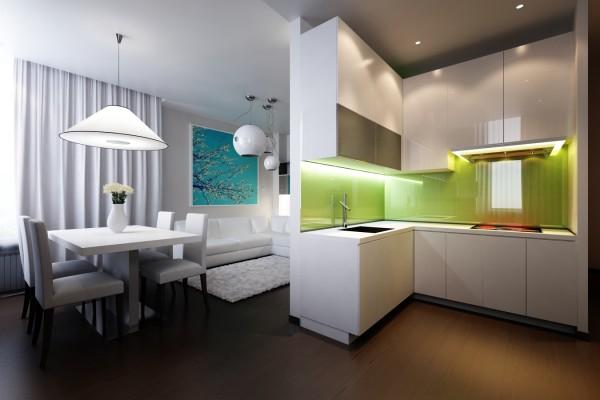 Белый цвет в интерьере кухни, реальный взгляд на вещи ► 1